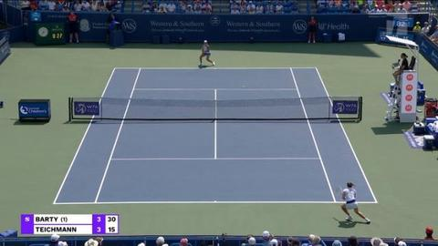 Tennis Channel Events | TC 2021 W&SOpen WTA Final Barty Def Teichmann STN Video