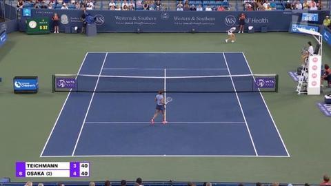 Tennis Channel Events | TC 2021 W&s Open R16 Teichmann Def. Osaka STN Video